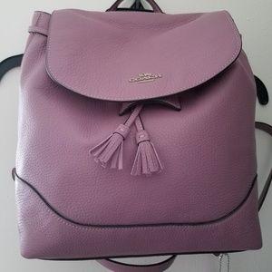 Coach Elle Backpack Jasmine Purple NWT